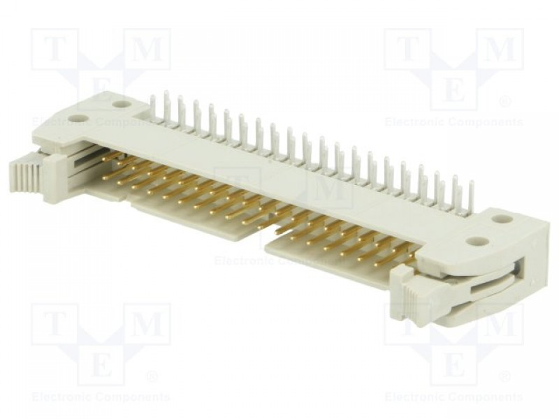 Socket; IDC; male; PIN:40; angled 90°; with short latch; THT -