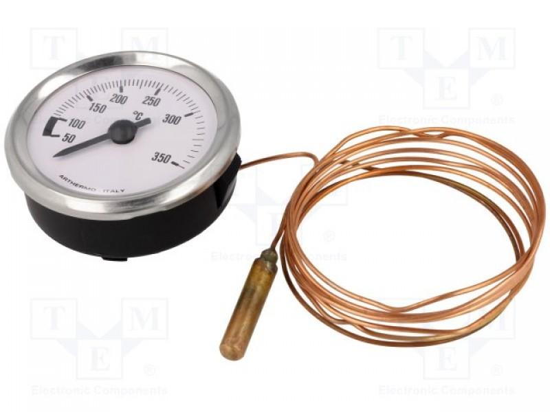Sensor: Kapillar-Einbau-Thermometer; Außenmaße: Ø52x25mm -