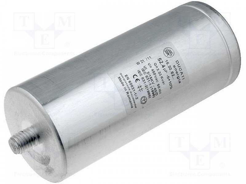 Capacitor Polypropylene One Phase Q At 50hz333kvar 450vac Ducati