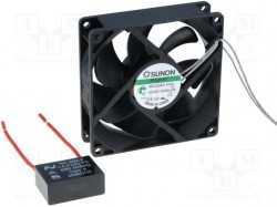 Fan: AC; axial; 230VAC; 92x92x25mm; 87(±7%)m3/h; 31.6dBA; Vapo
