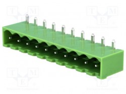 Pluggable terminal block; socket; male; 5.08mm; angled; ways:10