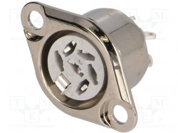Socket; DIN; female; PIN:6; Pin layout:240°; soldering; 34V; 2A