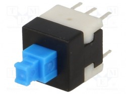 Microswitch; 2-position; DPDT; 0.1A/30VDC; THT; 1.6N; 8x8mm; 13.5mm