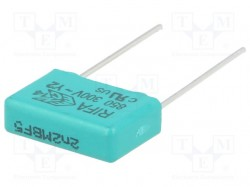 Capacitor: polypropylene; Y2; 10nF; 15mm; ±20%; 5.5x10.5x18mm