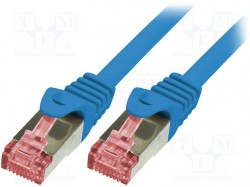 Patch cord; S/FTP; 6; stranded; Cu; LSZH; blue; 3m; 27AWG
