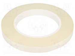 Tape: insulation; W:12mm; L:50m; D:0.16mm; 5%; Colour: white; 155°C