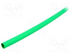 Heat shrink sleeve; 2:1; 12.7mm; L:1.2m; green; polyolefine; 5pcs.