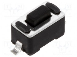 Microswitch; 1-position; SPST-NO; 0.05A/12VDC; SMT; 1.6N; 3x6mm