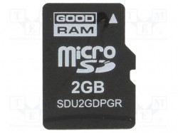 Memory card; industrial; SD Micro, pSLC; 2GB; -40÷85°C