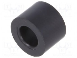 Spacer sleeve; cylindrical; polystyrene; L: 5mm; Øout: 7mm; 70°C