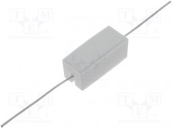 Resistor: wire-wound; cement; THT; 3.6Ω; 5W; ±5%; 9.5x9.5x22mm