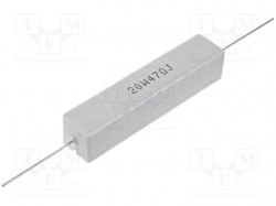 Resistor: wire-wound; cement; THT; 10Ω; 20W; ±5%; 13x13x60mm