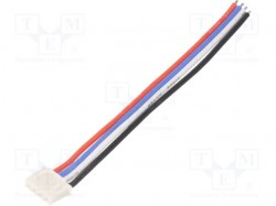 RC accessories: battery wire; 100mm; 24AWG; male; Insulation: PVC