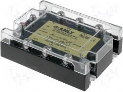 Relay: solid state; Ucntrl:80÷280VAC; 125A; 48÷480VAC; 3-phase