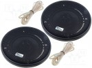 Car loudspeakers; two-way; 100mm; 60W; 90÷17000Hz; 2 loudspeakers