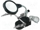 PCB holder with magnifying glass; 65mm