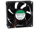 Fan: DC; axial; 24VDC; 80x80x25mm; 69.7m3/h; 33dBA; ball bearing