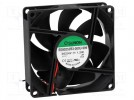 Fan: DC; axial; 24VDC; 80x80x25mm; 56.1m3/h; 28dBA; ball bearing