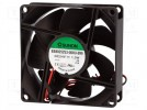 Fan: DC; axial; 24VDC; 80x80x25mm; 56.1m3/h; 28dBA; slide bearing