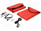 Portable service kit; 600x600mm; Variant: ESD; red; Mat: vinyl