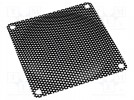 Guard; 92x92mm; Mat: metal; Mounting: screw
