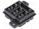 Socket; PIN:11; 10A; 240VAC; H:16mm; W:37.8mm; Mounting: on panel