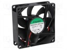 Fan: DC; axial; 24VDC; 80x80x25mm; 69.7m3/h; 33dBA; slide bearing