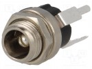 Socket; DC supply; male; 5,5/2,5mm; 5.5mm; 2.5mm; 9mm; THT; straight