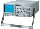 Oscilloscope: analogue; Band: ≤20MHz; Channels:2; In.imp:1MΩ/25pF
