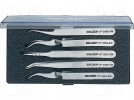 Set: tweezers; Pcs:5; SMD