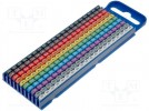Markers for cables and wires; 2.8÷3.8mm; polyamide; push-in