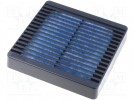 Guard; with filter; 120x120mm; Mat: plastic; Mounting: screw