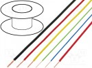 Wire; FLRY; stranded; Cu; 0.22mm2; PVC; yellow; 60V; 100m; Class:5