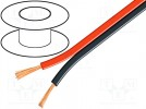 Cable: loudspeaker cable; 2x0,35mm2; stranded; Cu; black-red