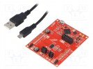 Dev.kit: TI MSP430; USB B micro,pin strips; Comp: MSP430FR2311