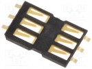 Connector: for cards; SIM; without ejector, without protection