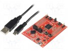 Dev.kit: TI MSP430; USB B micro,pin strips; Comp: MSP430F5529